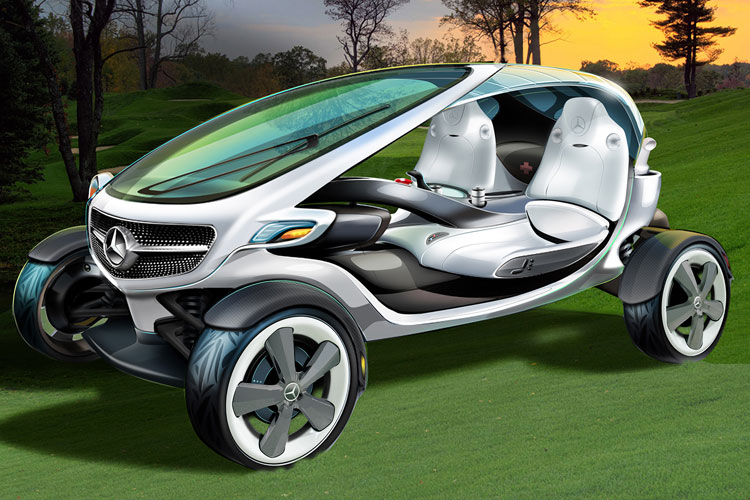 Benz Visionary Golf Cart Of The Future