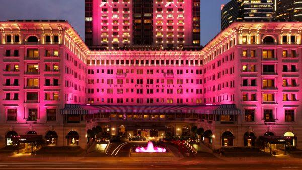 Peninsula Hotels Awash In Pink