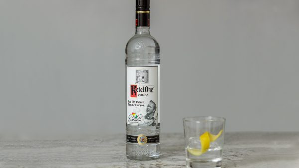 "We're celebrating Arnold Palmer's birthday with Ketel One Collector's Edition commemorative vodka bottle in honor of ""The King"" himself"