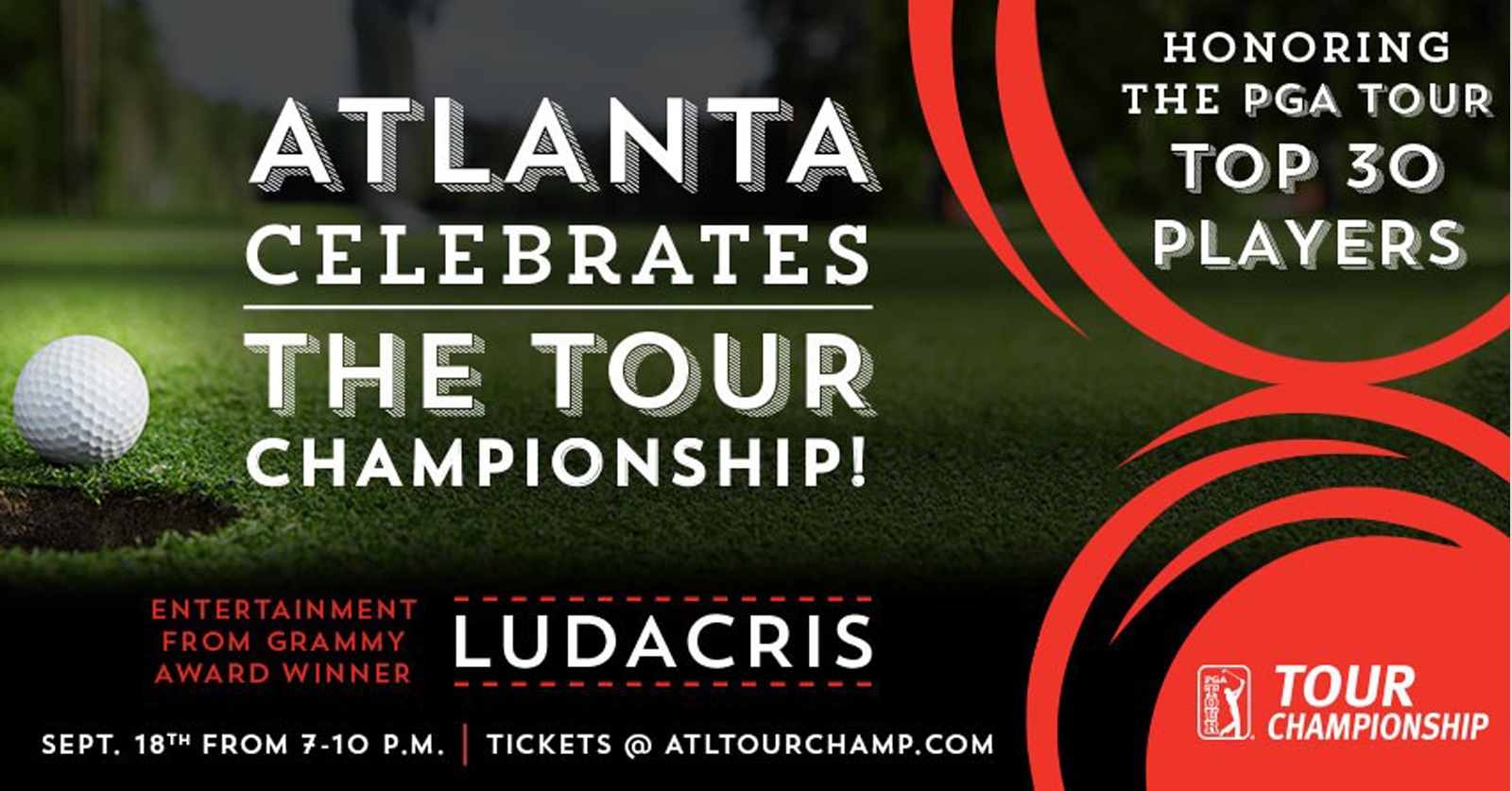 Atlanta Celebrates the TOUR Championship with Ludacris, a three-time Grammy award-winner. Image