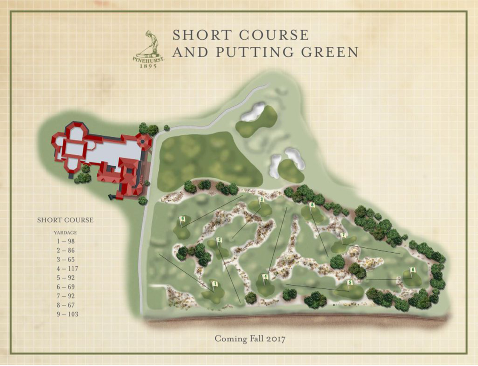 """Over 120 years after golf arrived at Pinehurst, the historic resort, often referred to as the Cradle of American Golf, will open """"The Cradle"""", a nine-hole course by golf architect Gil Hanse."""
