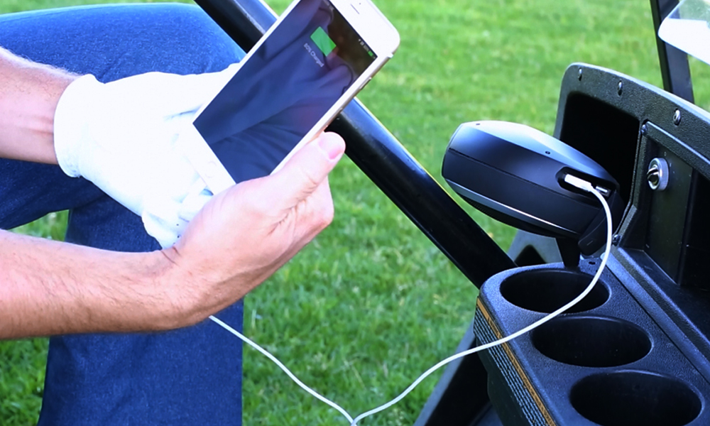The new Sound Caddy golf club speaker