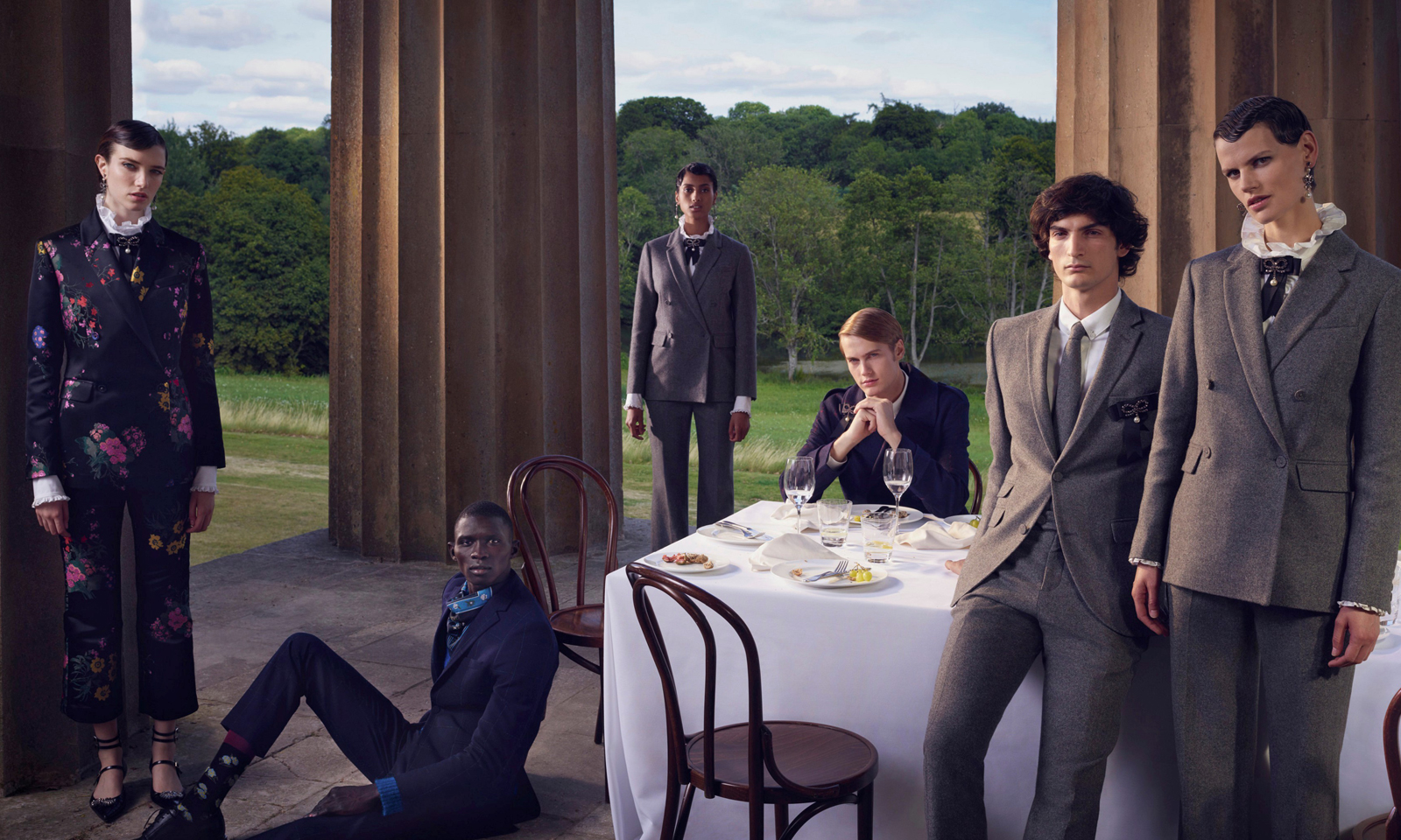 Family Portraits ERDEM x H&M by Photographer Michal Pudelka