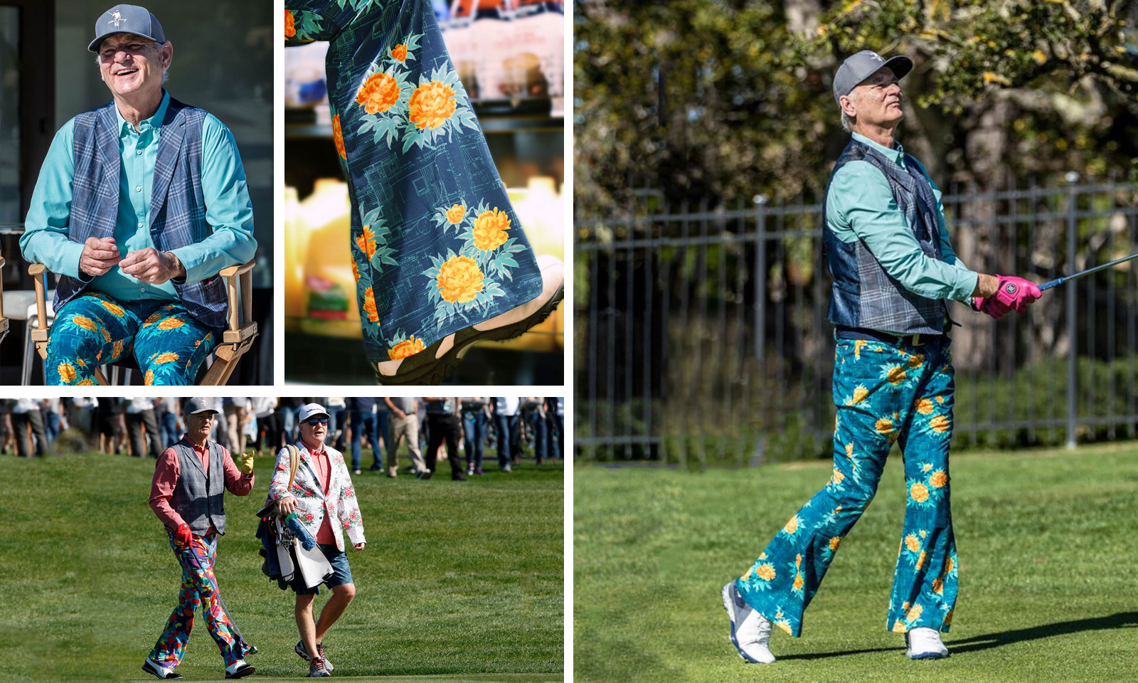 Murray wearing his Bill Bottoms pants at the AT&T Pebble Beach Pro-Am
