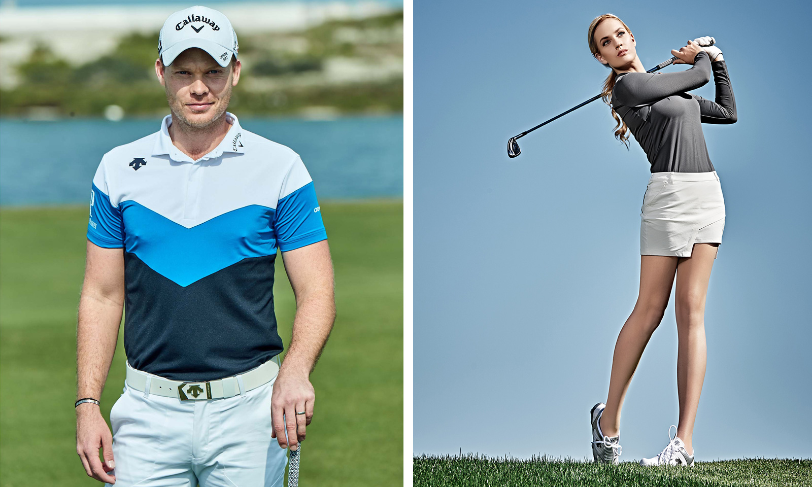 Danny Willett and Paige Spiranac