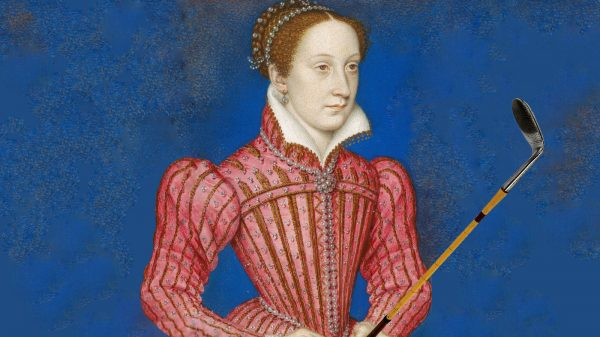 Mary Queen of Scots Golfing Artwork