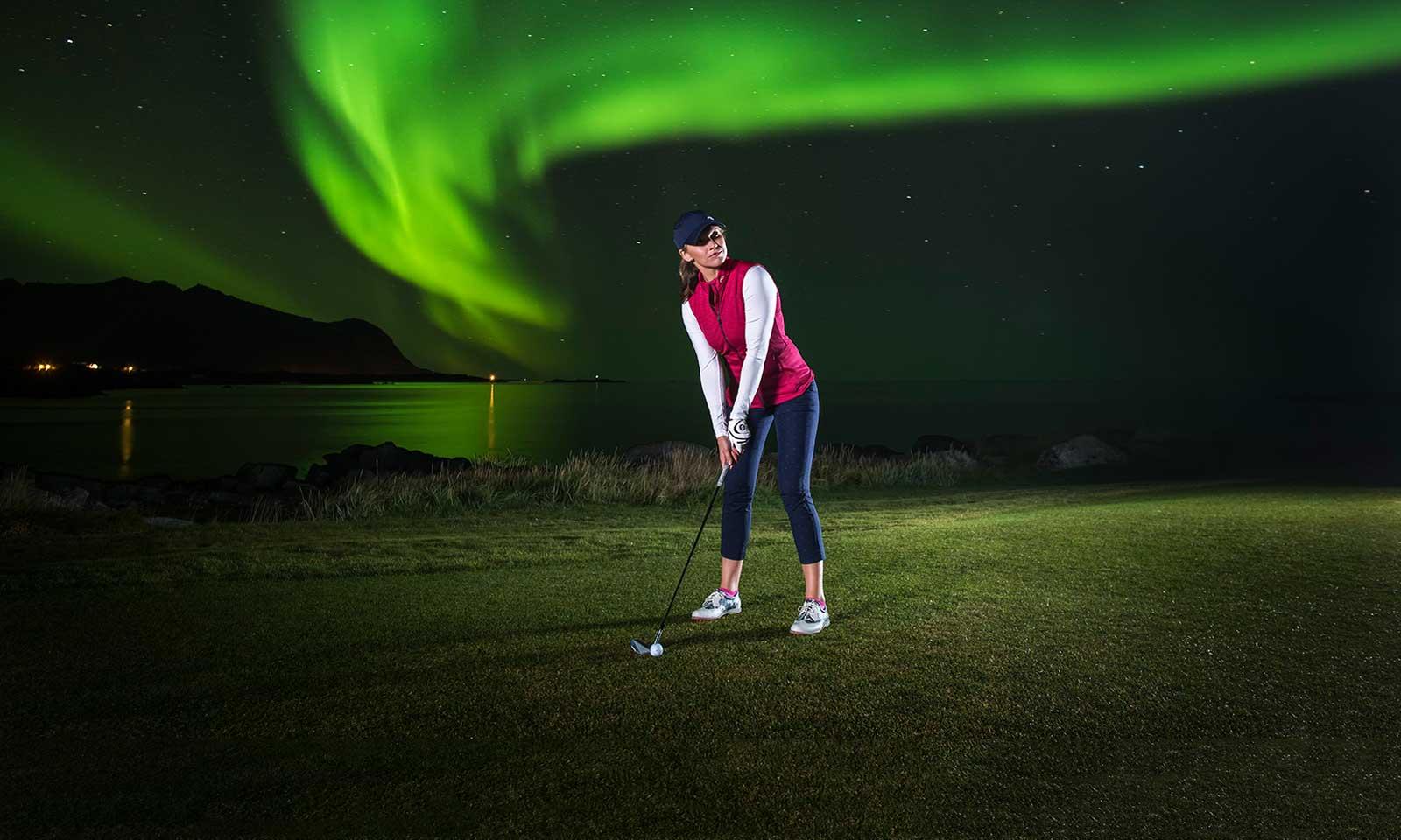 Golf Under the Northern Lights