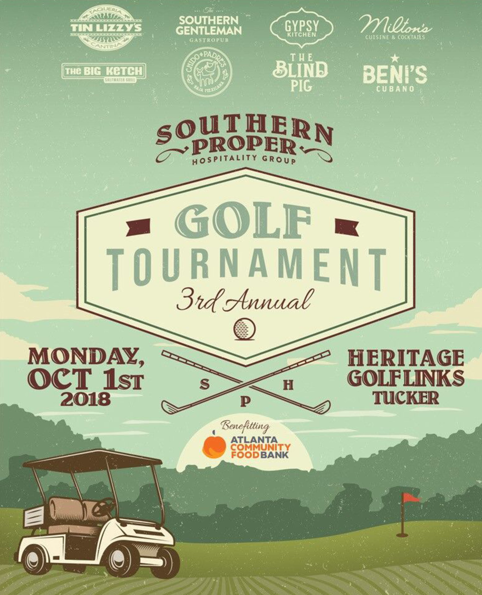 The 3rd annual for Southern Proper Hospitality Golf Tournament to Benefit Atlanta Community Food Bank