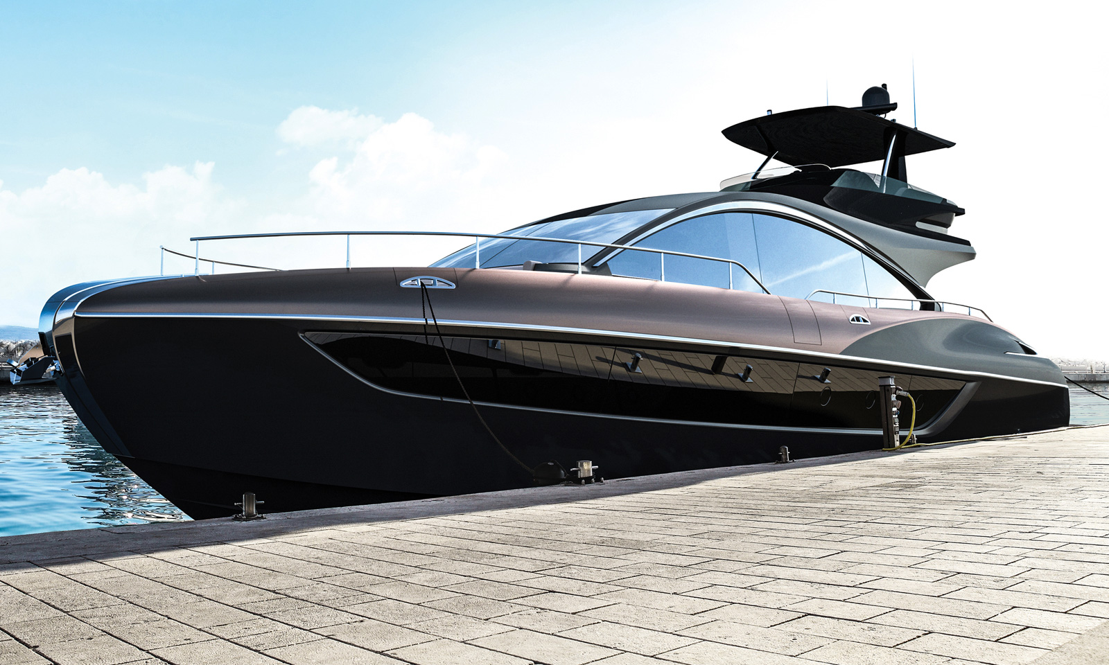 The 65-foot Lexus LY 650 Luxury Yacht