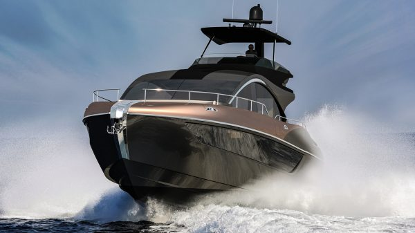 The 65-foot Lexus LY 650 Luxury Yacht