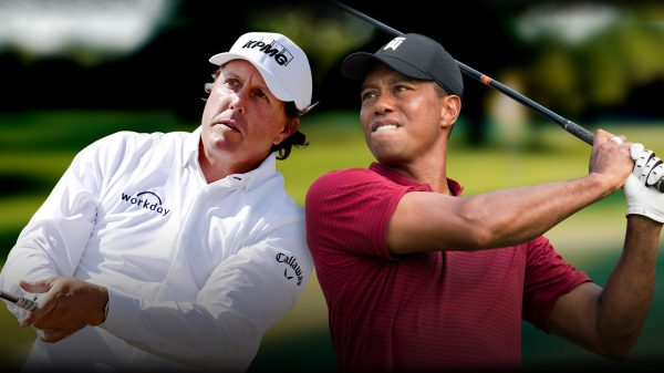 Golf legends Tiger Woods and Phil Mickelson
