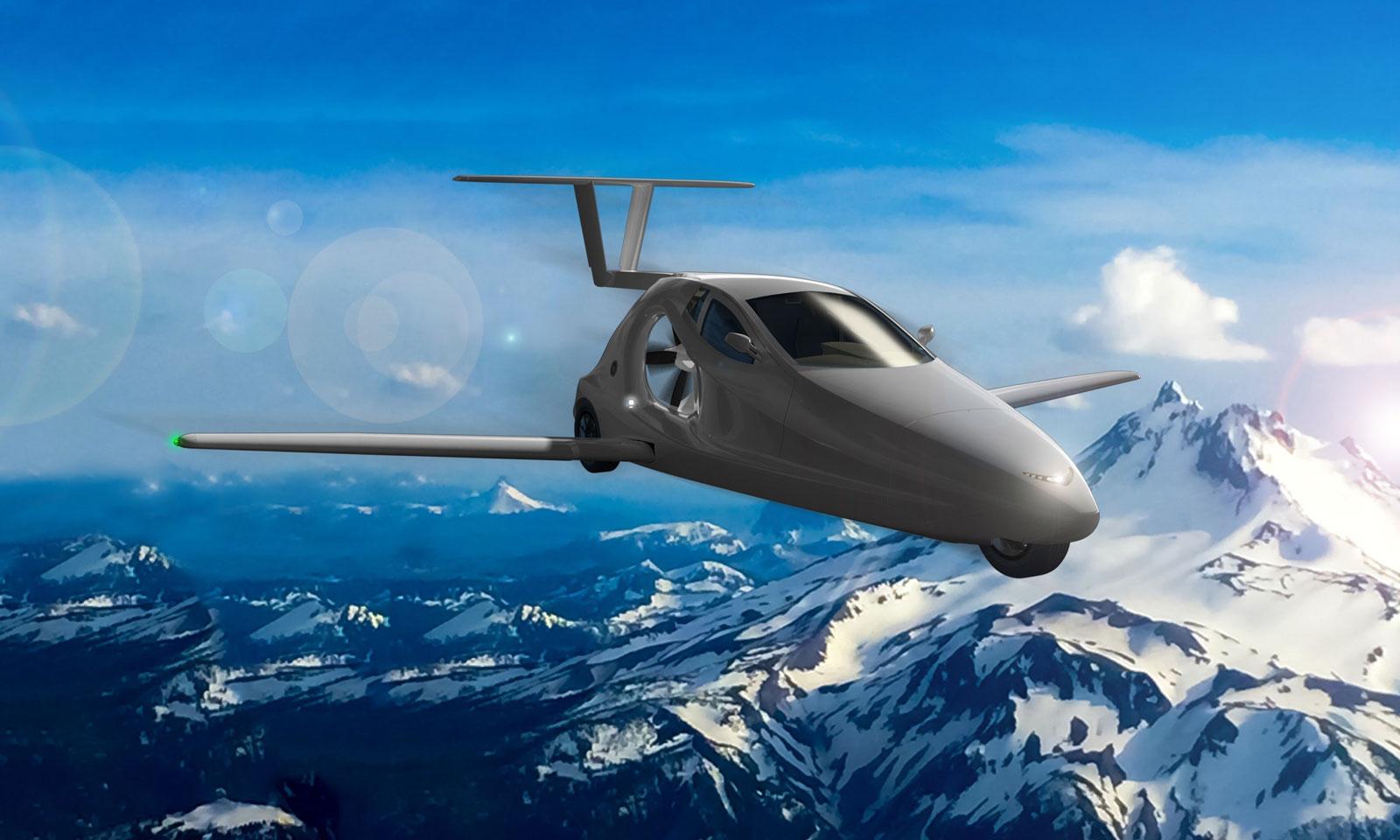 Samson flying sports car