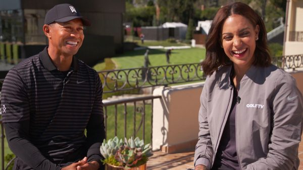 Henni Zuel and Tiger-Woods