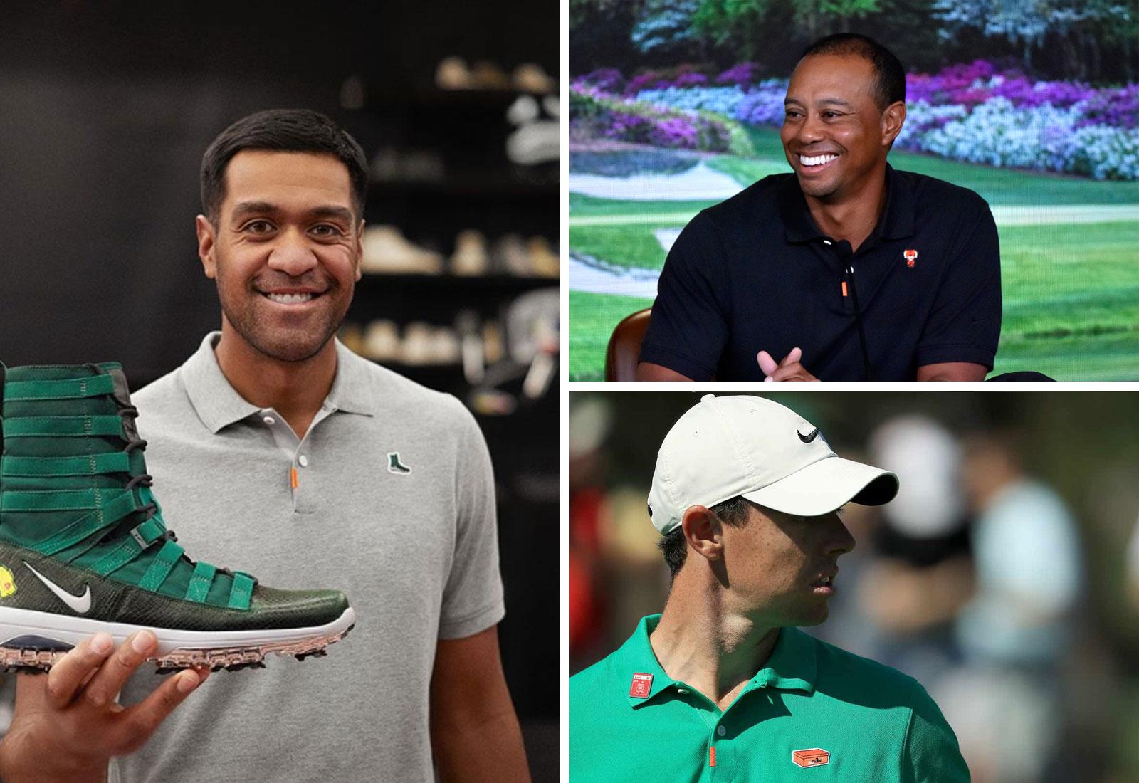 Nike staffers Tiger Woods, Rory Mcilroy, and Tony Finau