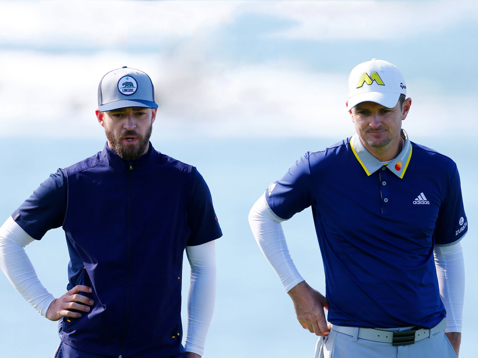 Justin Timberlake and Justin Rose team up for golf