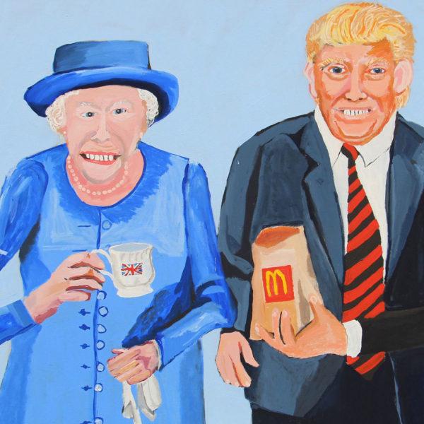 Art Vincent Namatjira Queen Elizabeth Donald display