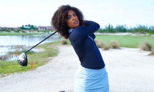 Women's world long drive champion Troy Mullins