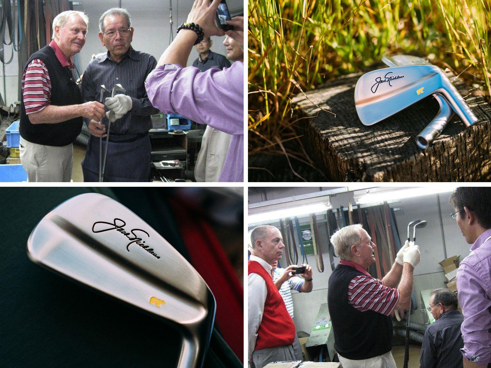 Legendary golfer, Jack Nicklaus, and legendary club-maker Katsuhiro Miura