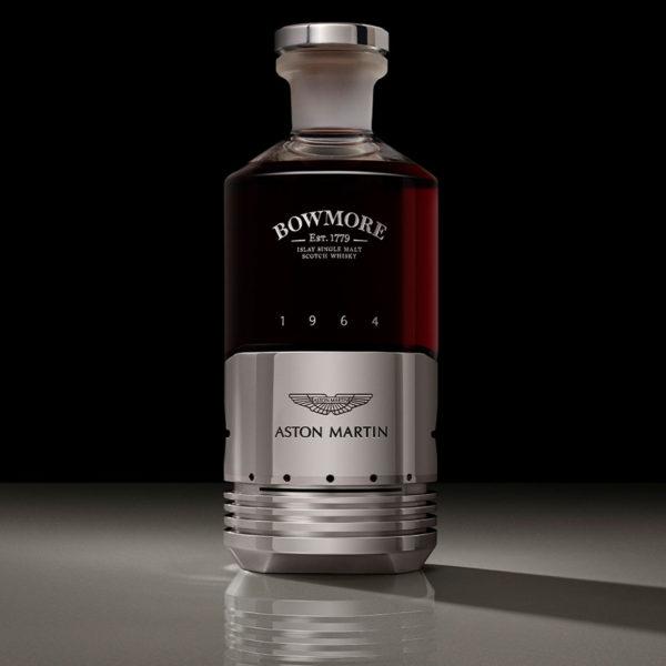 The Aston Martin Black Bowmore Scotch Whisky