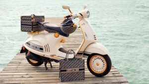 Vespa Dior Scooter and Luggage