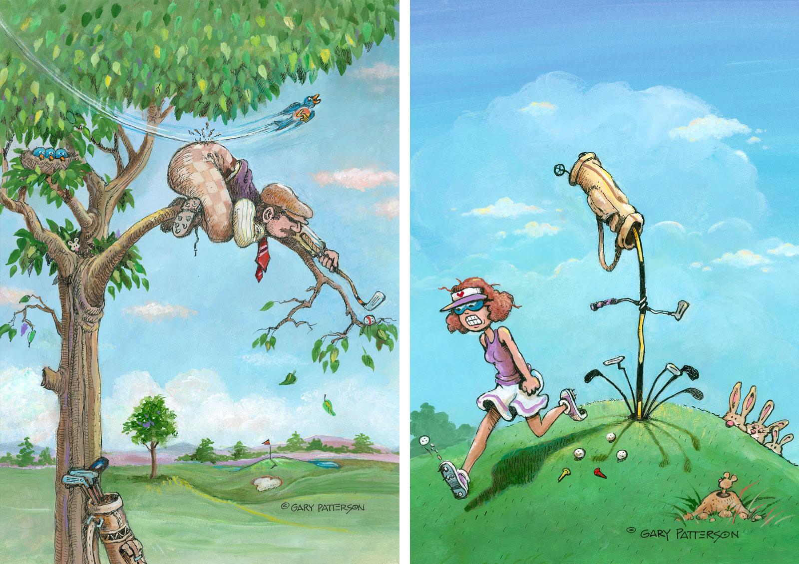 Golf humor by cartoon artist Gary Patterson