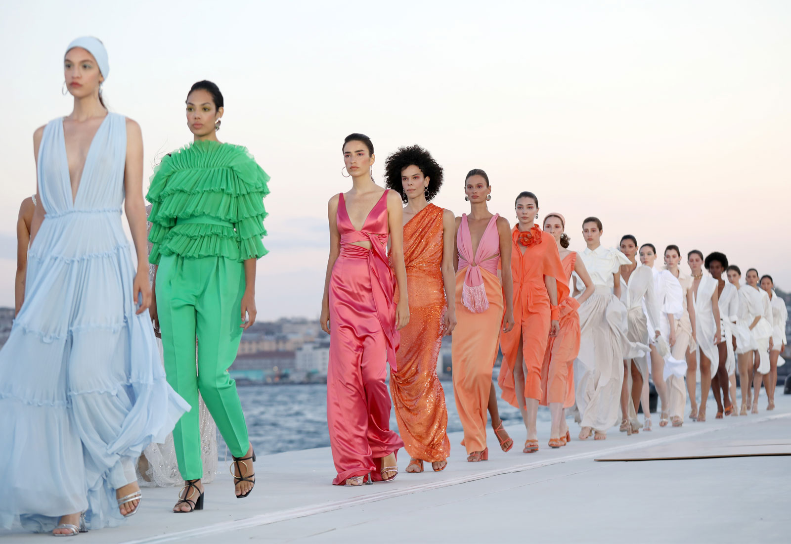 Models walk the runway at Ozgur Masur show in Istanbul