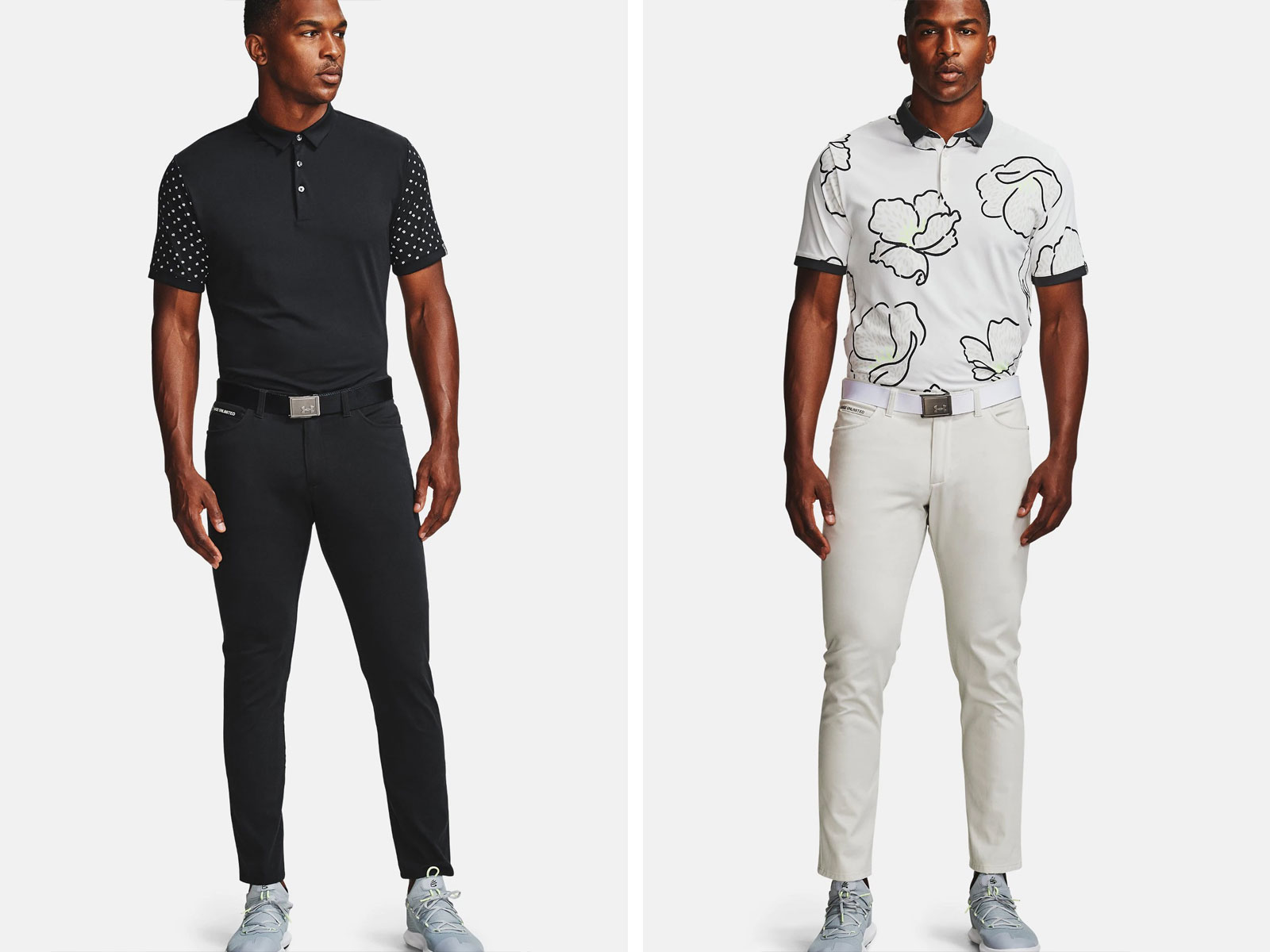 Polo shirt and slim fit pants