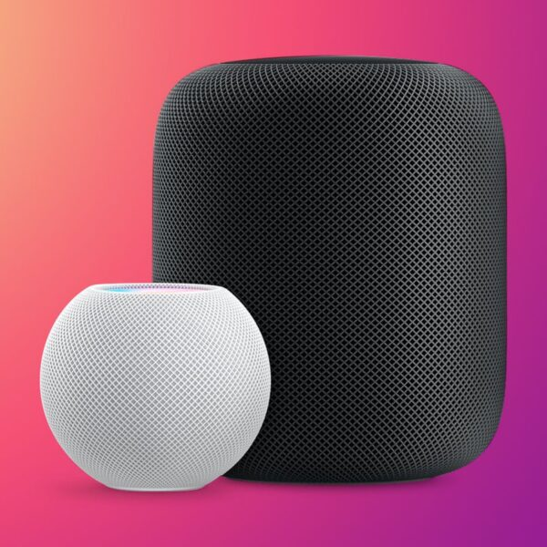 HomePod mini next to the HomePod
