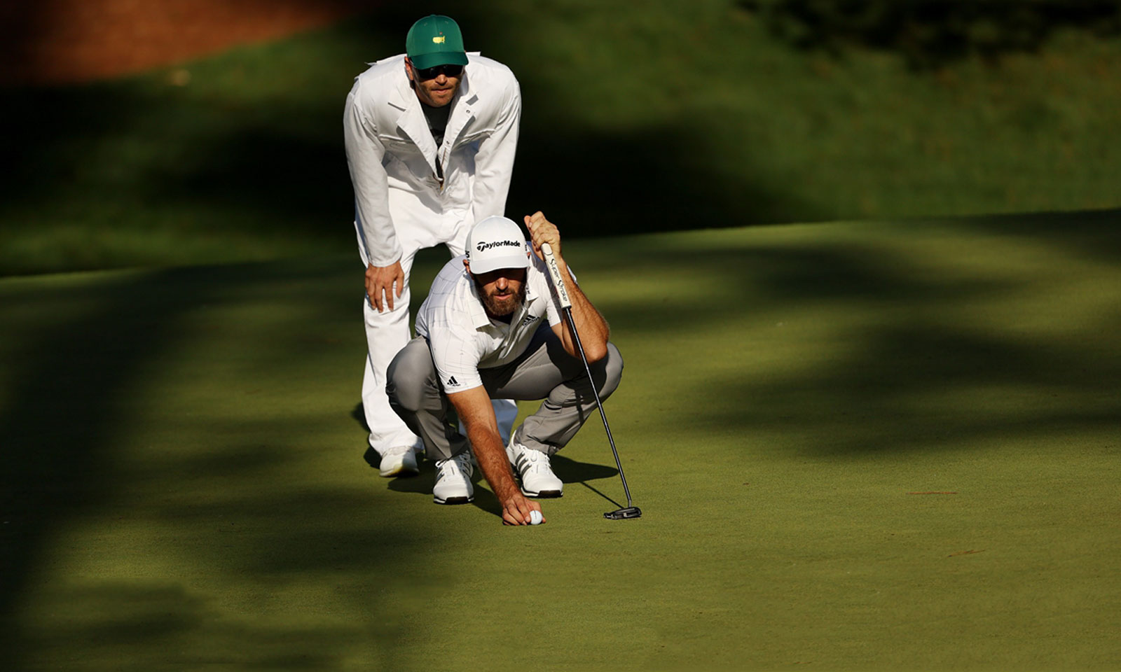 DJ-Dustin Johnson and his caddy Austin Johnson