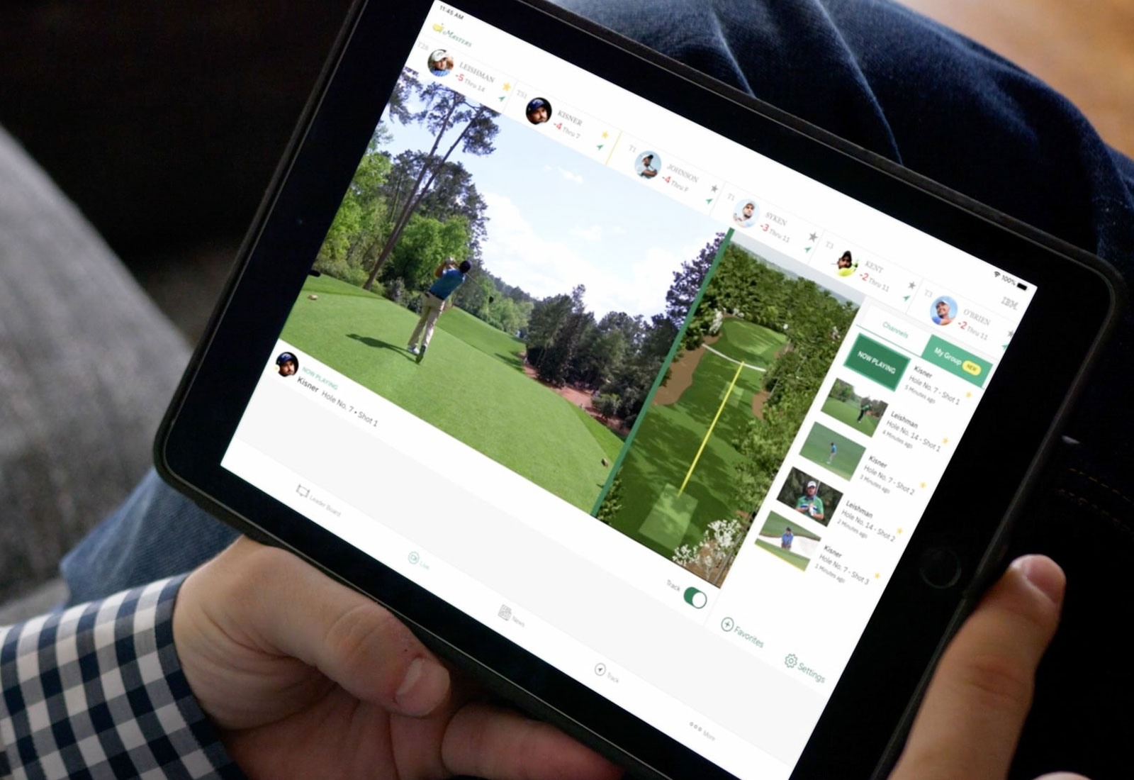 A Personalized Masters Viewing Experience with IBM Watson on a Tablet
