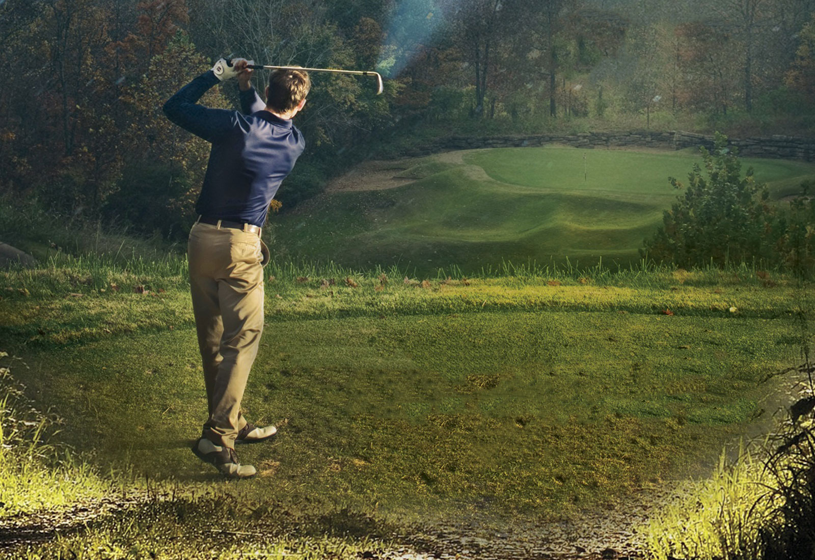 The Golfer's Carol Book Illustration