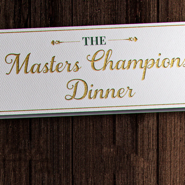 The Annual Masters Champions Dinner