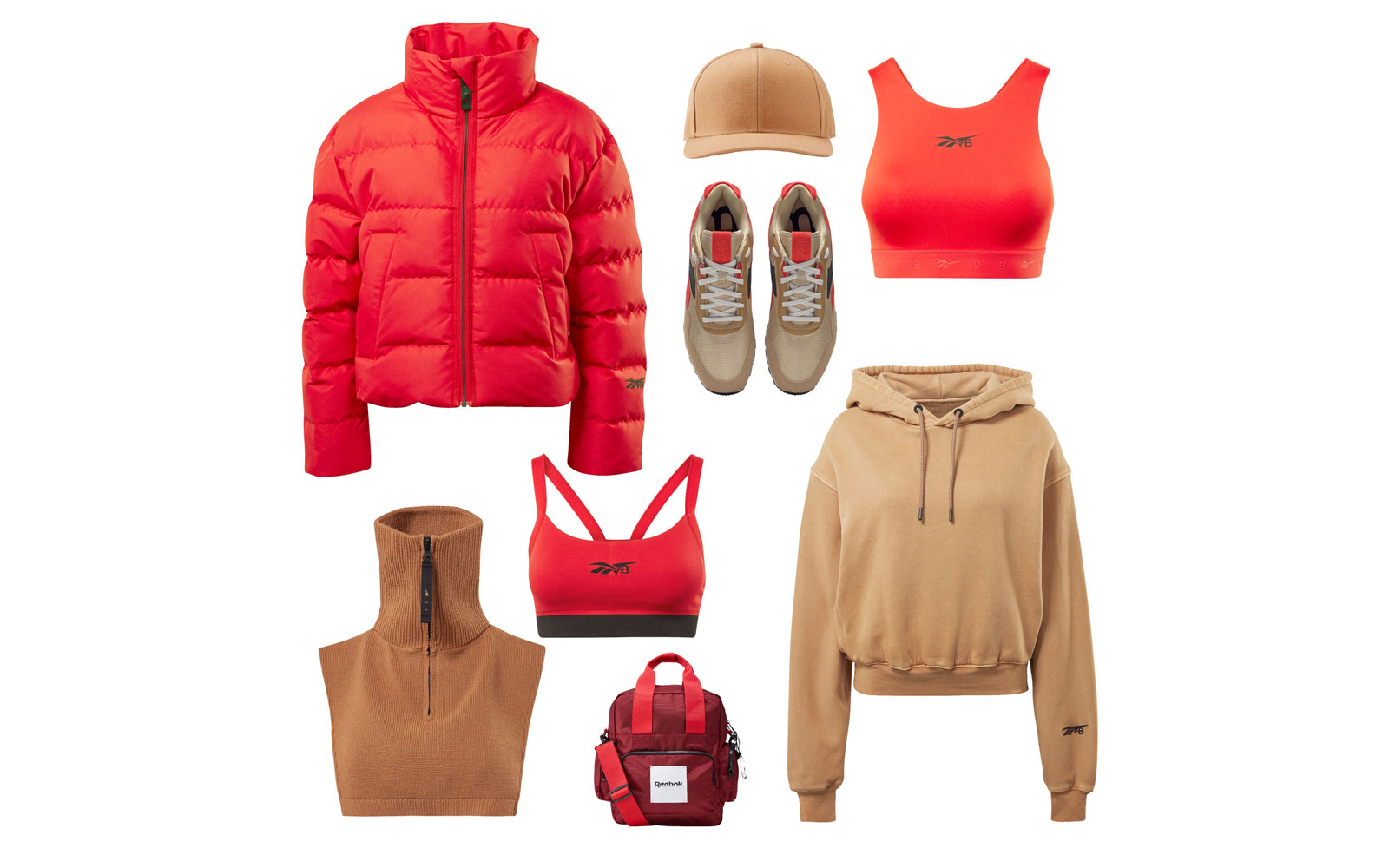 Victoria Beckham and Reebok Red and Beige