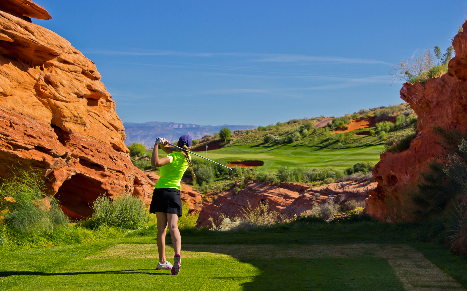 Winter golf is in play at Sand Hallow in Utah