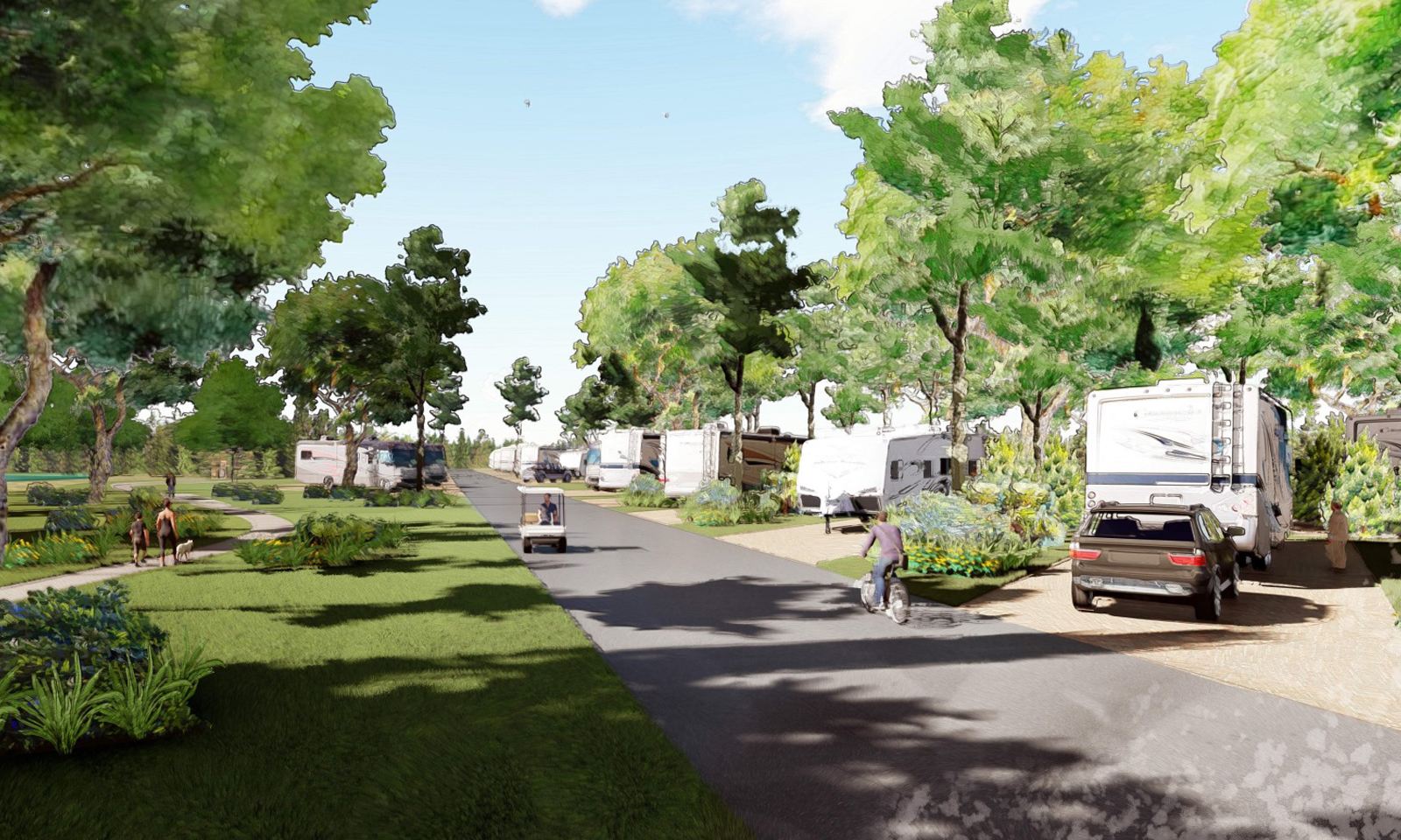 Hilton Head National RV Resort rendering