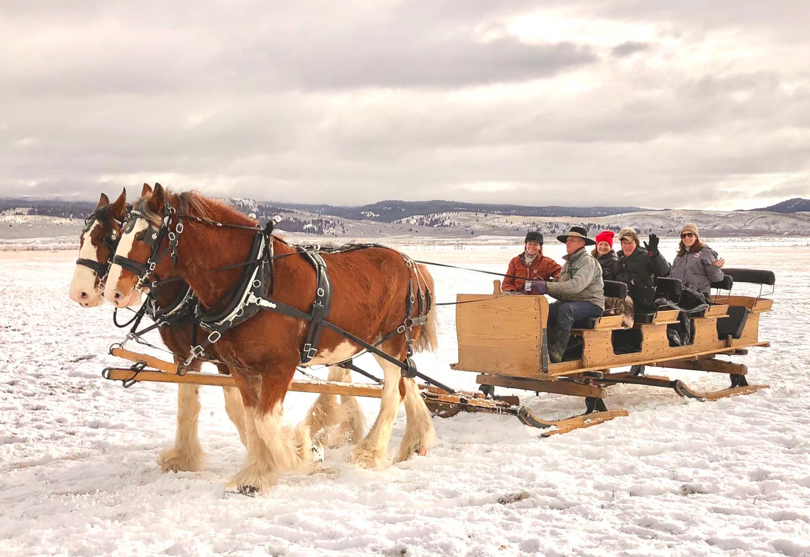 sleigh ride at Silvies